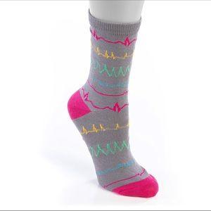 Heart Rhythm Socks for Nurses, Doctors, Pharma